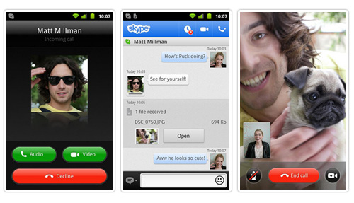 скачать скайп для андроид 2.3 - фото 3